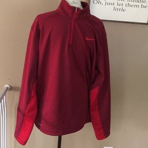 Nike therma-fit men's red fleece size XL like new